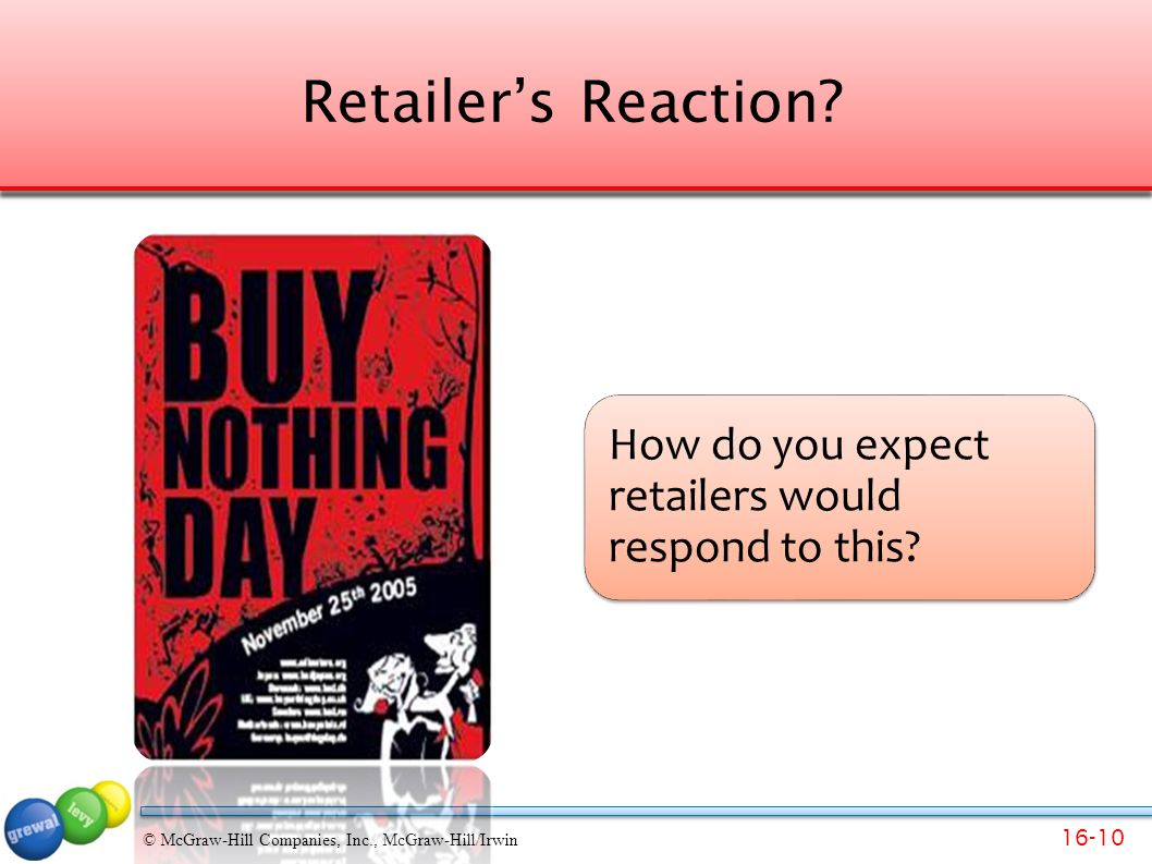 Retailer's Reaction How do you expect retailers would respond to this