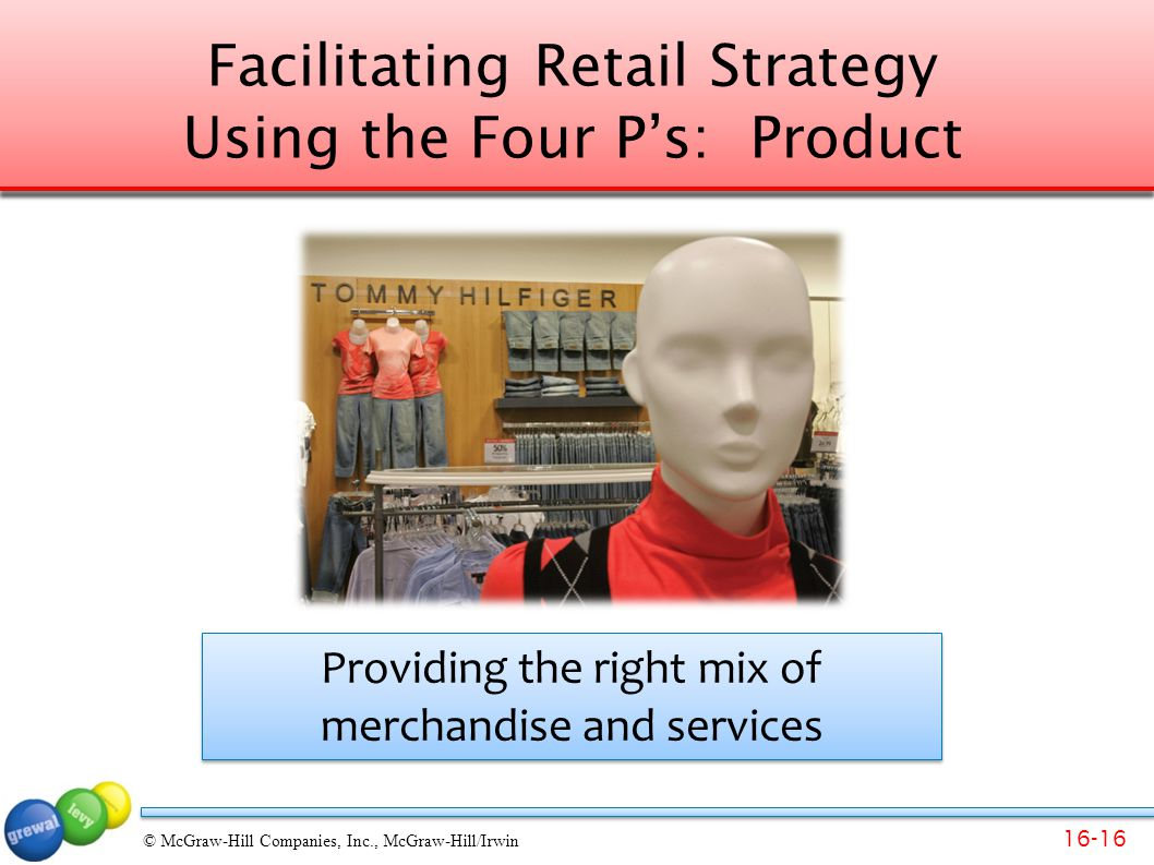 Facilitating Retail Strategy Using the Four P's: Product