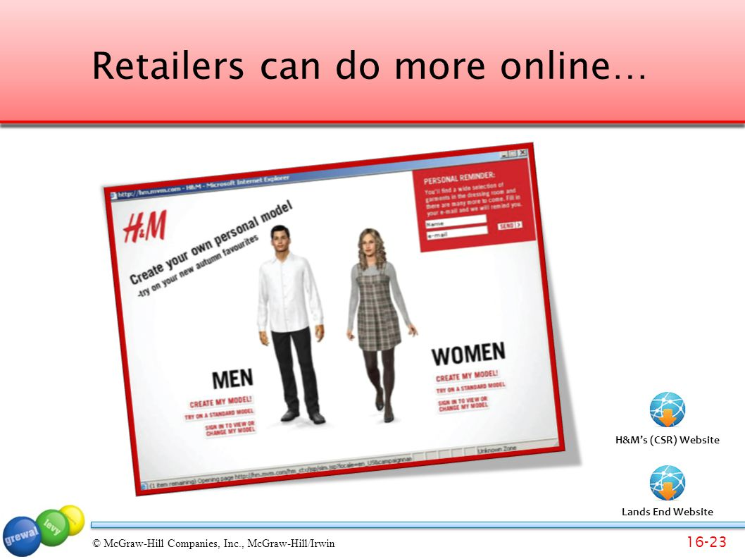 Retailers can do more online…