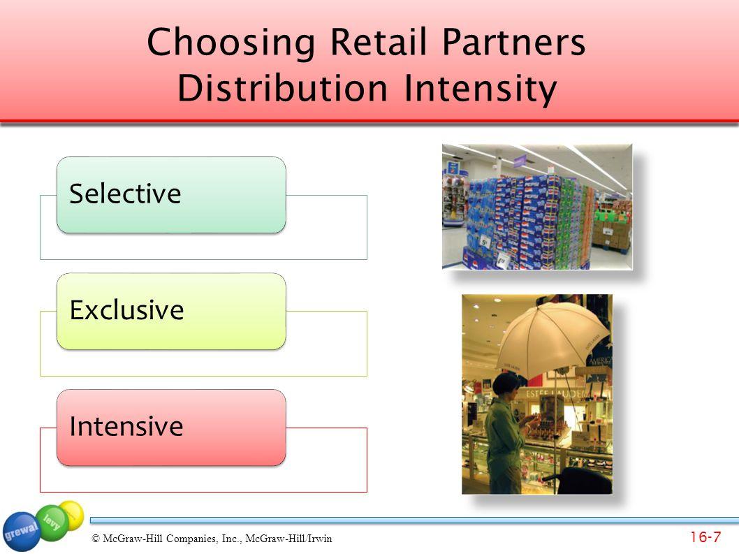 Choosing Retail Partners Distribution Intensity