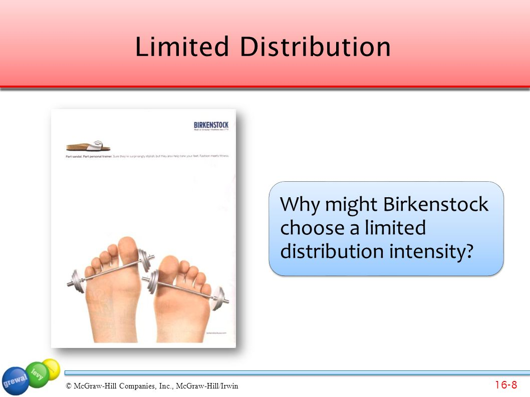 Limited Distribution Why might Birkenstock choose a limited distribution intensity