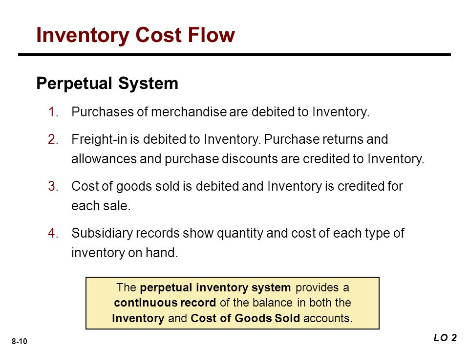 Inventory Cost Flow Perpetual System