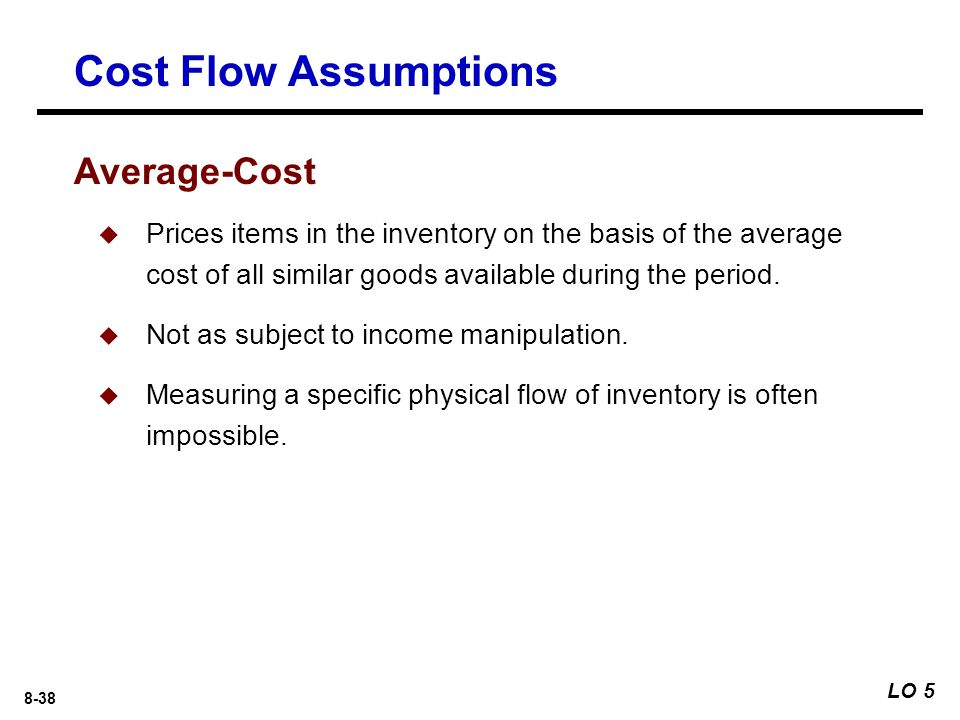Cost Flow Assumptions Average-Cost