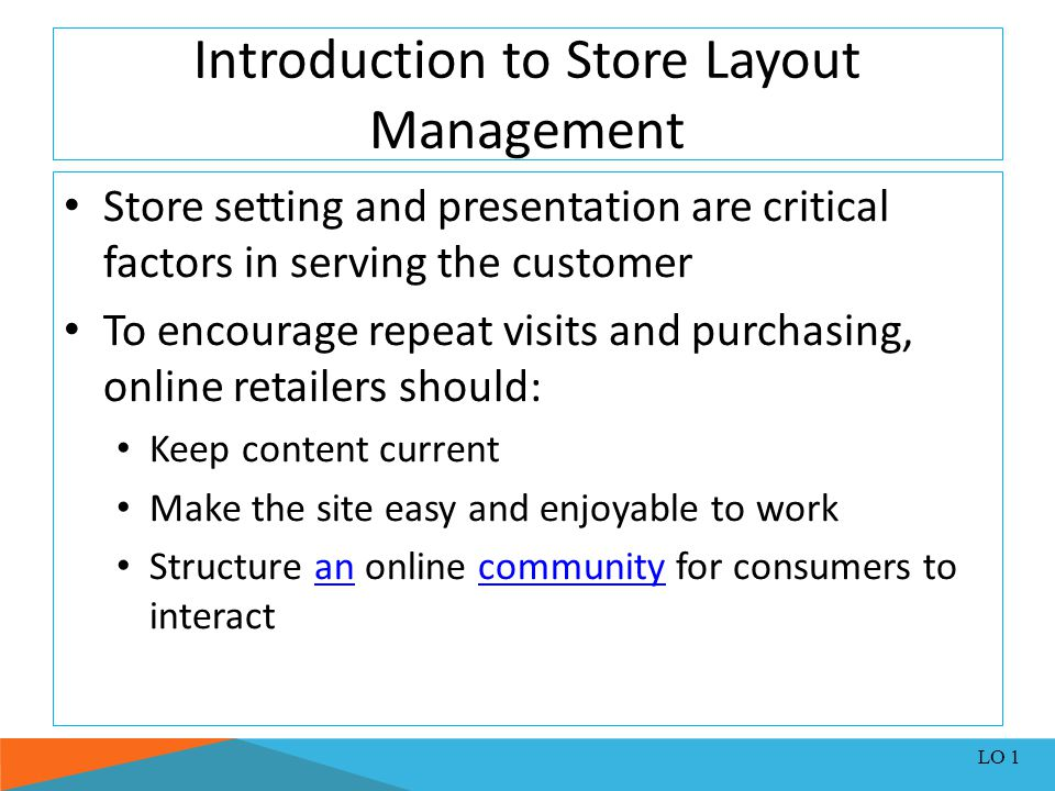 Introduction to Store Layout Management