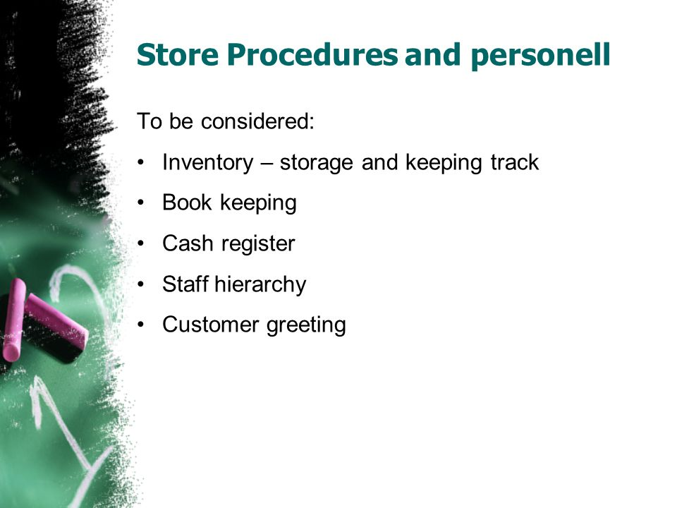 Store Procedures and personell