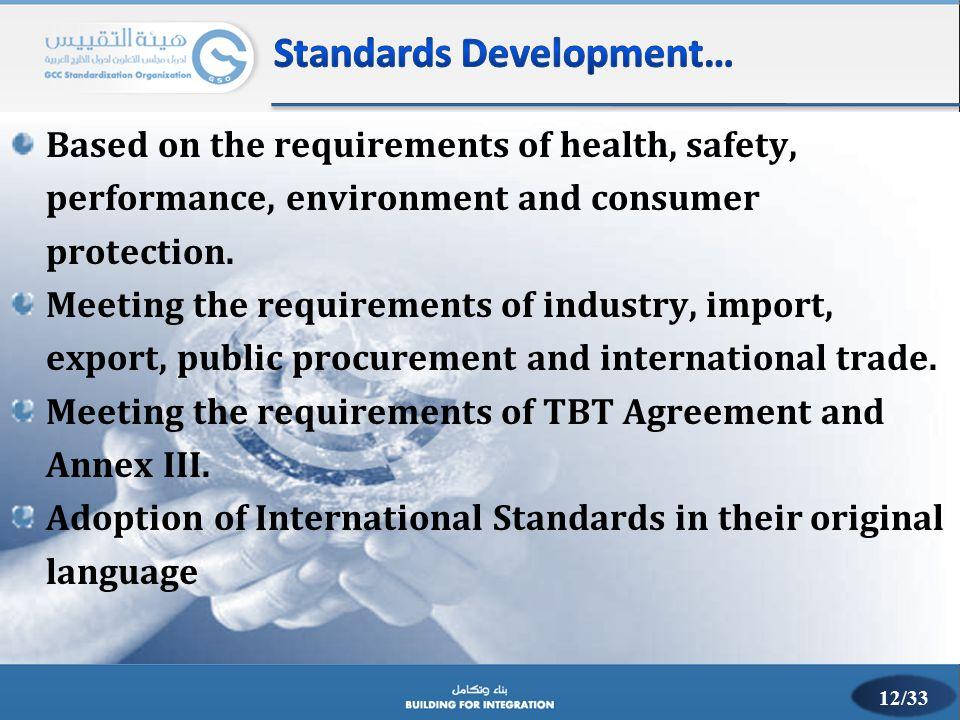Standards Development…
