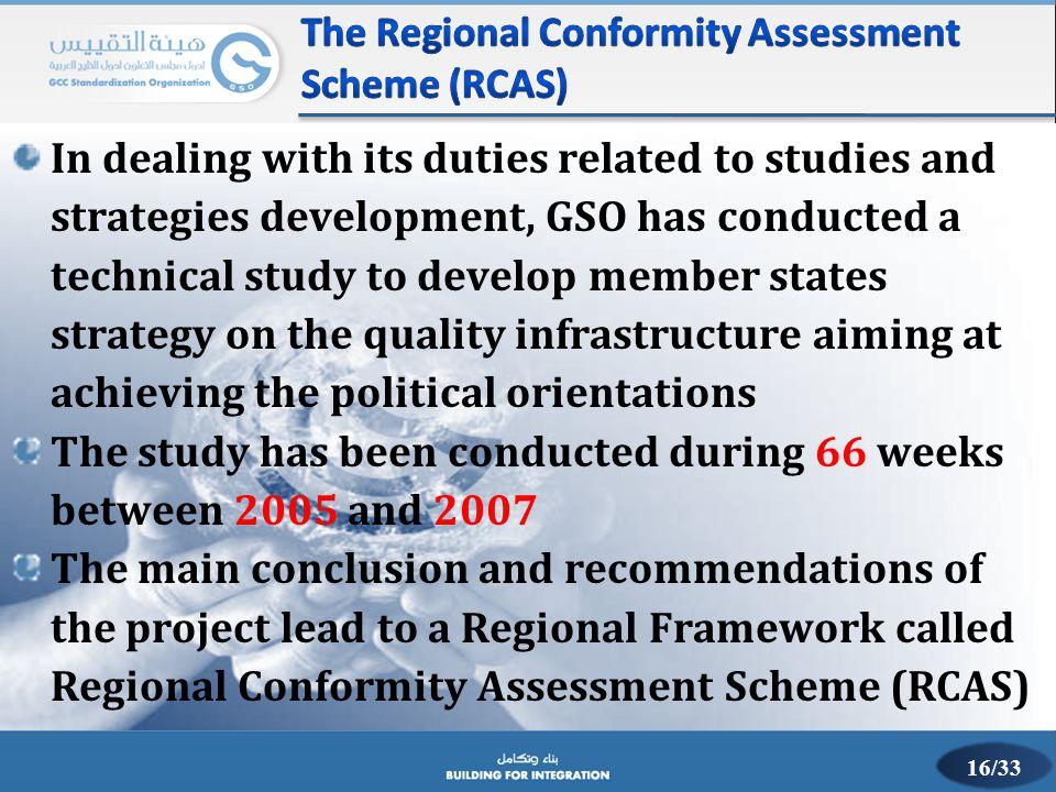 The Regional Conformity Assessment Scheme (RCAS)