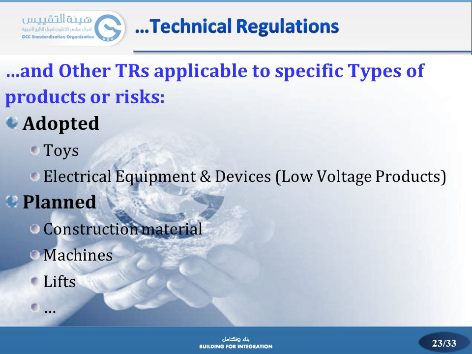 …Technical Regulations