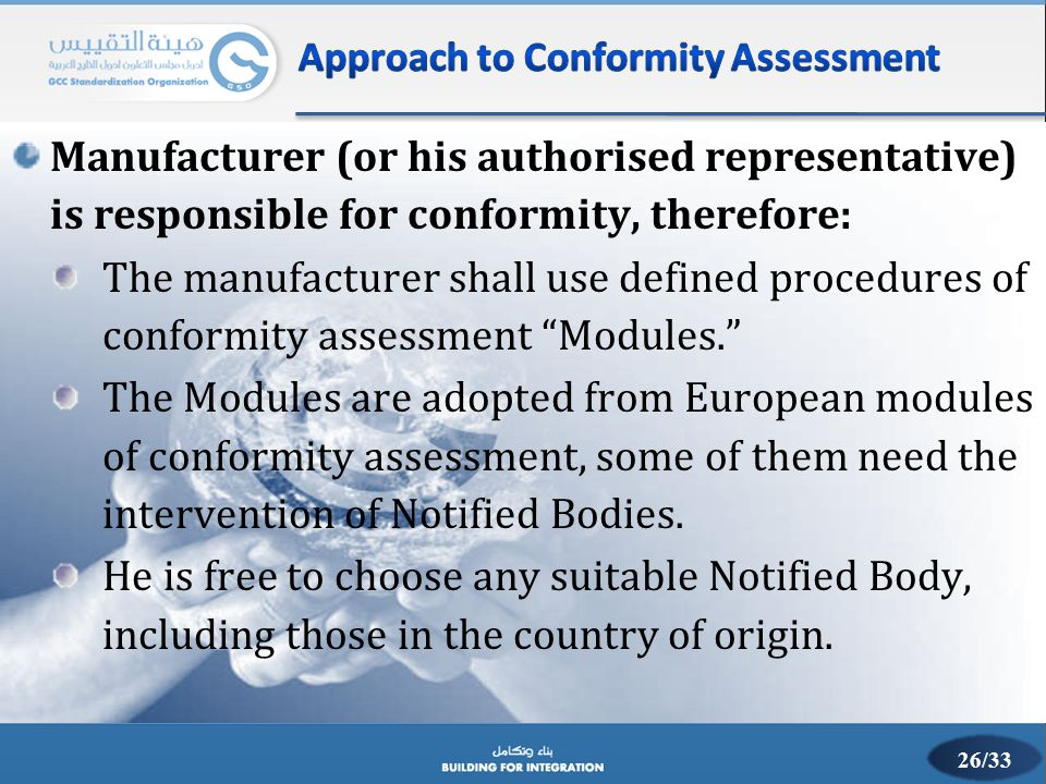 Approach to Conformity Assessment