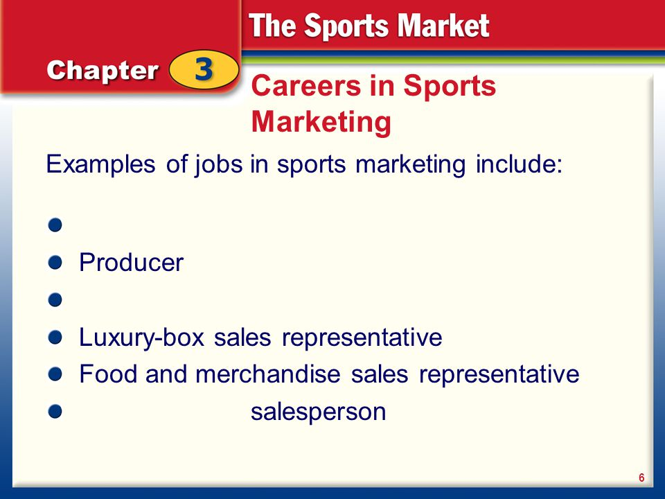 Careers in Sports Marketing