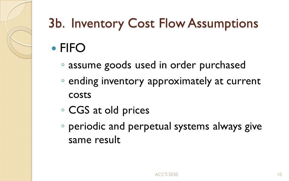 3b. Inventory Cost Flow Assumptions