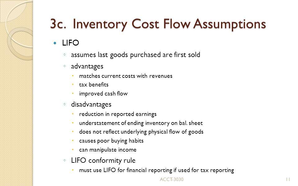 3c. Inventory Cost Flow Assumptions