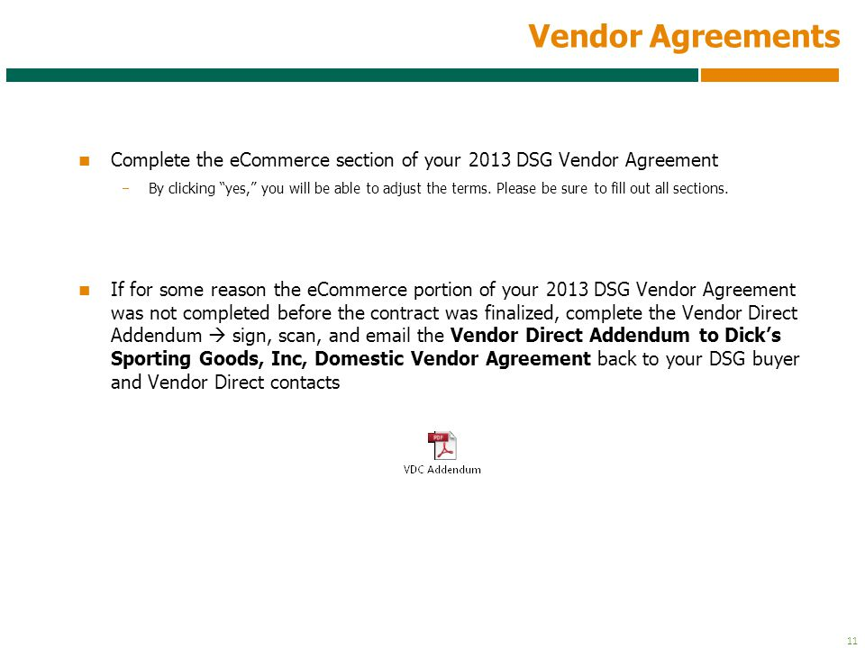 Vendor Agreement Printable Pdf Version Performance