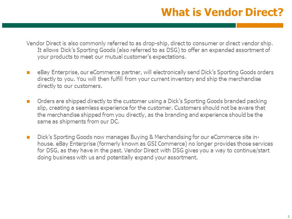 What is Vendor Direct