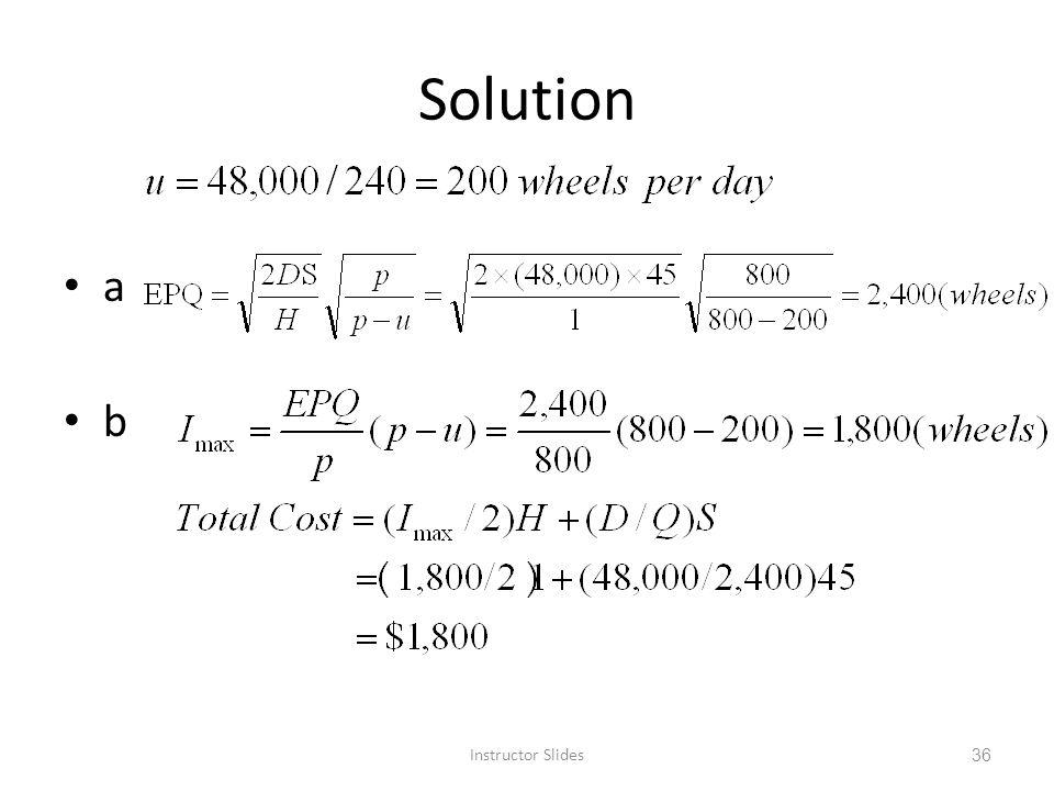 Solution a b Instructor Slides