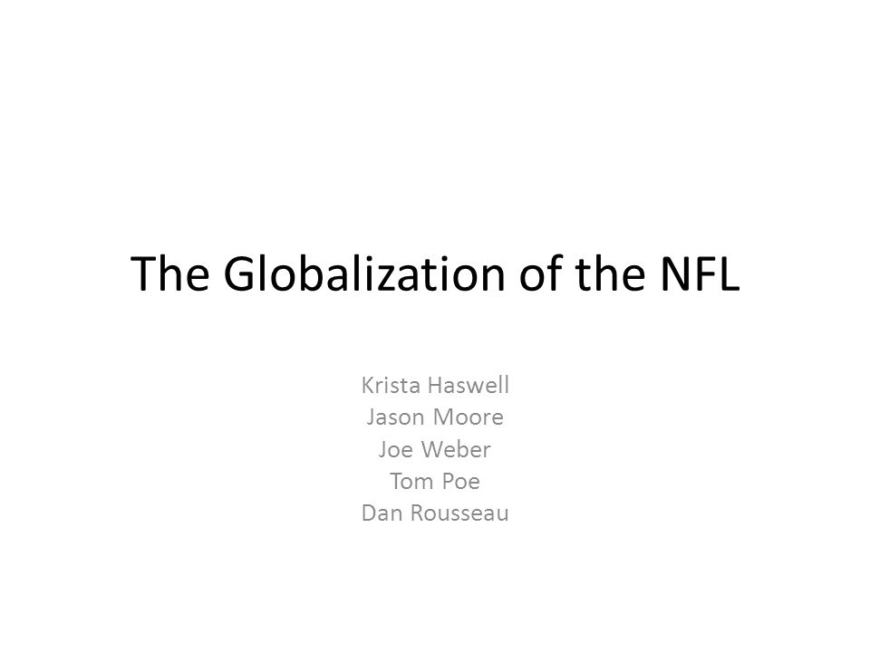 The Globalization of the NFL