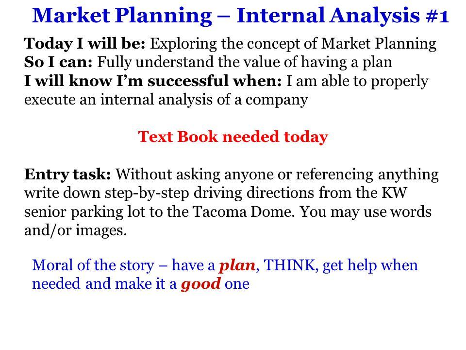 Market Planning – Internal Analysis #1