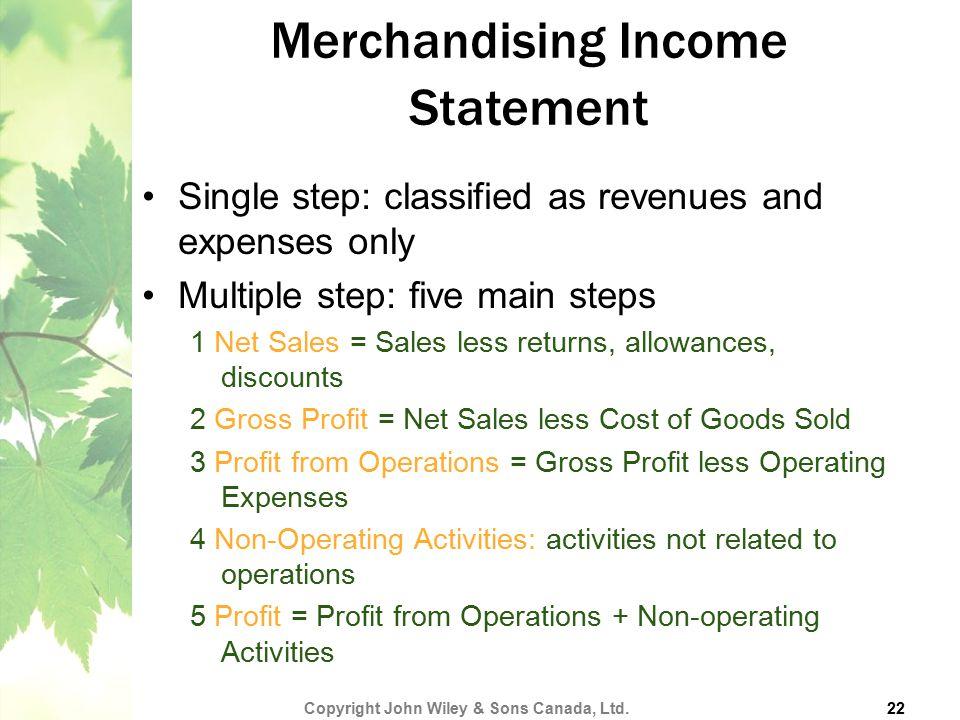 Merchandising Income Statement