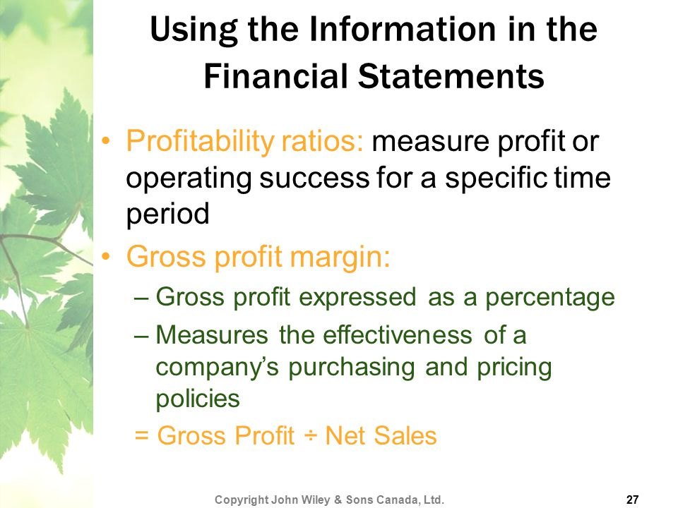 Using the Information in the Financial Statements