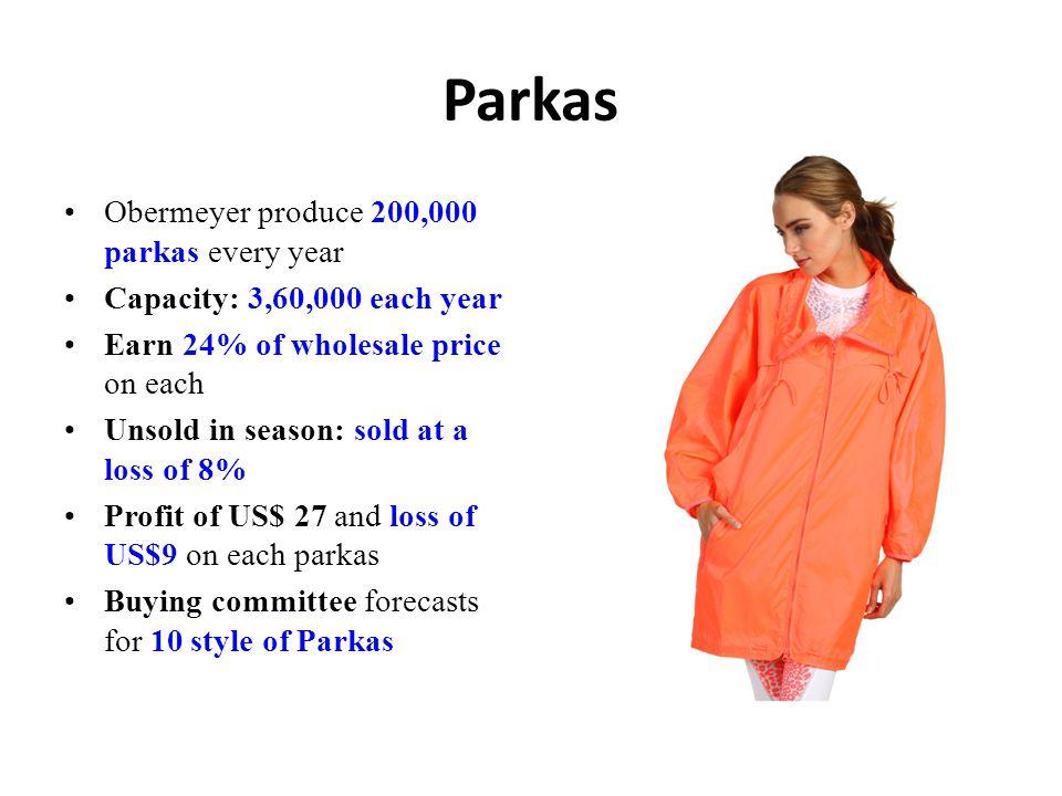 Parkas Obermeyer produce 200,000 parkas every year