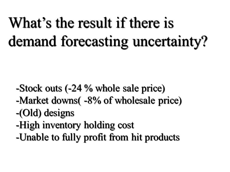 What's the result if there is demand forecasting uncertainty