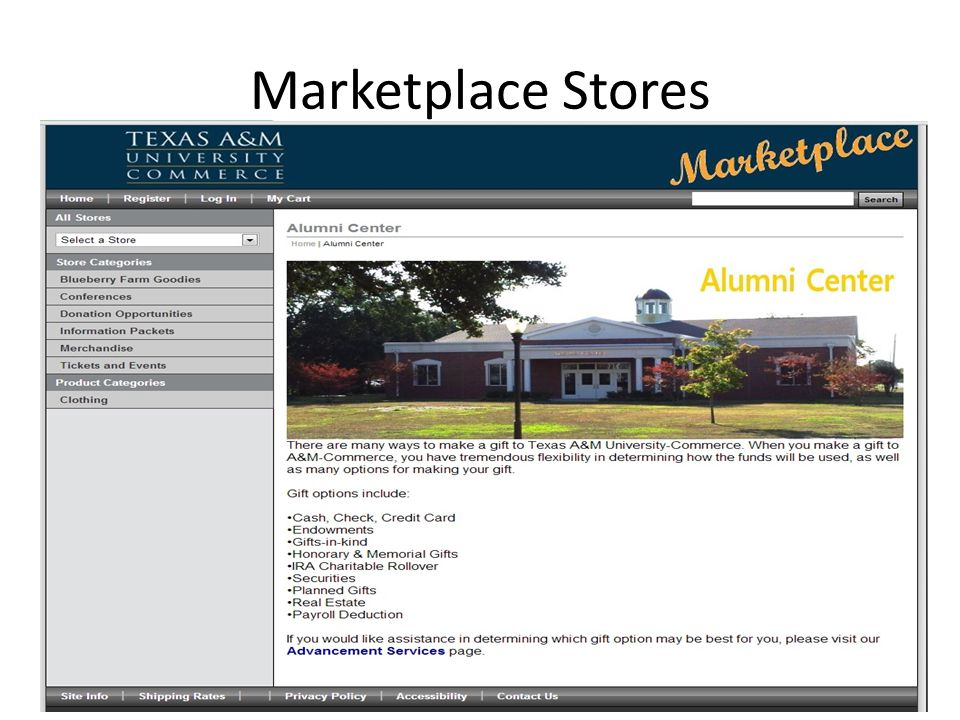 Marketplace Stores