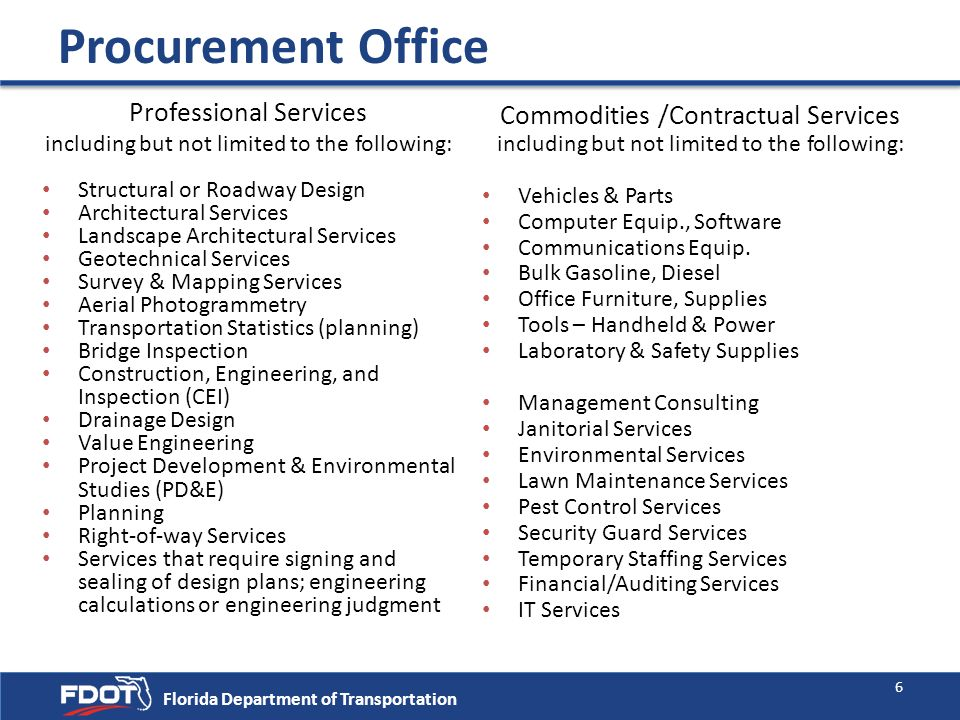 Procurement Office Professional Services