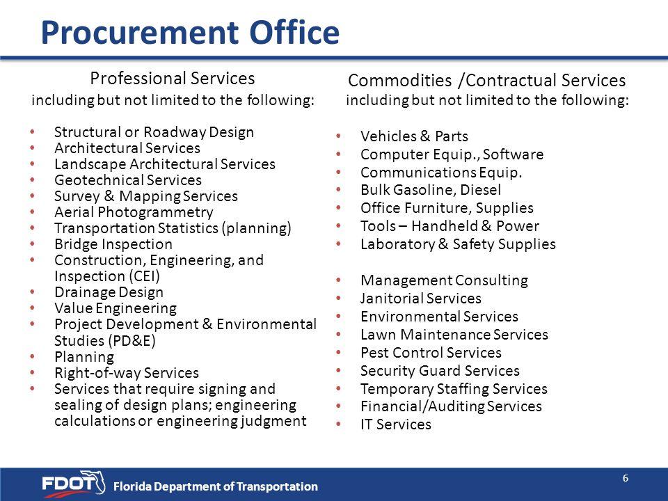 Procurement Office Professional Services