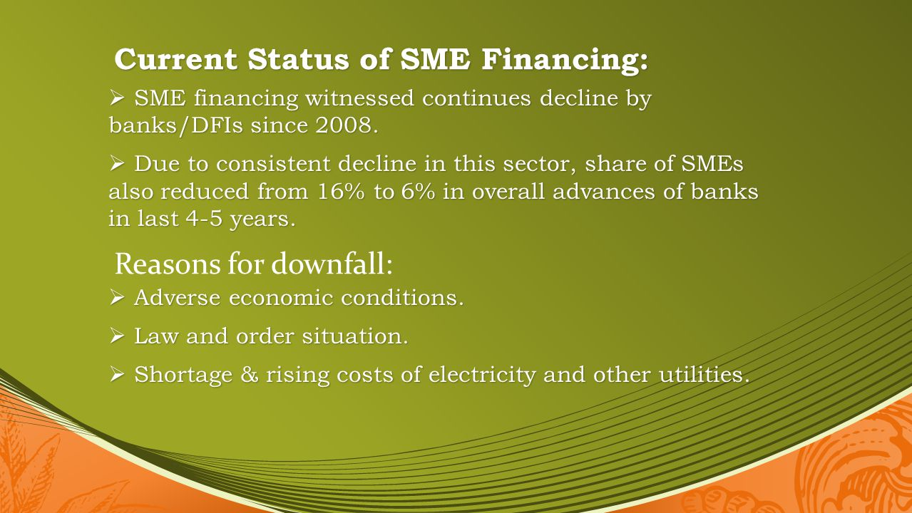 Current Status of SME Financing: