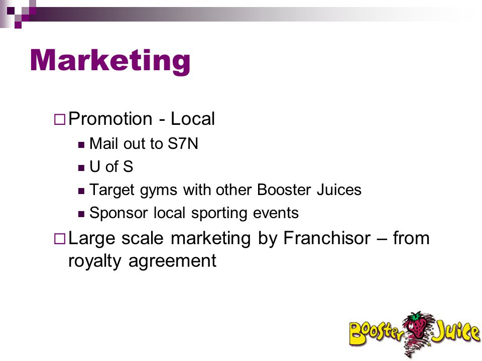 Marketing Promotion - Local