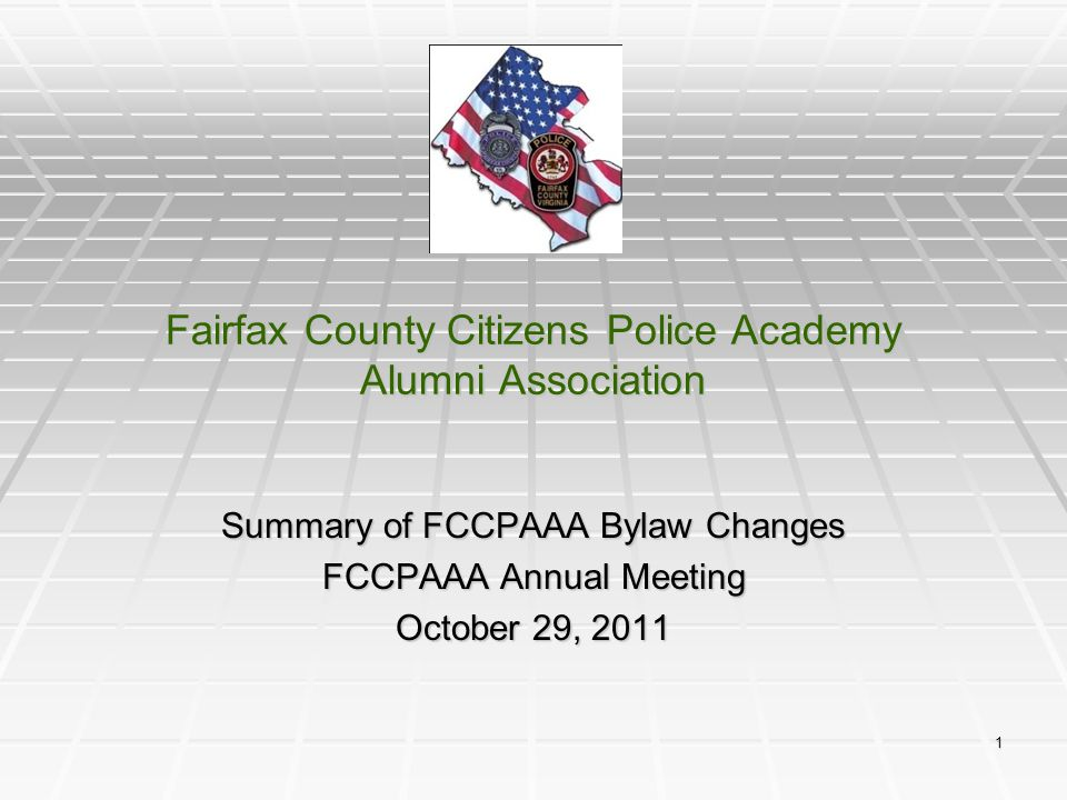 Fairfax County Citizens Police Academy Alumni Association