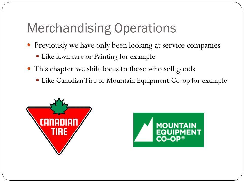 Merchandising Operations