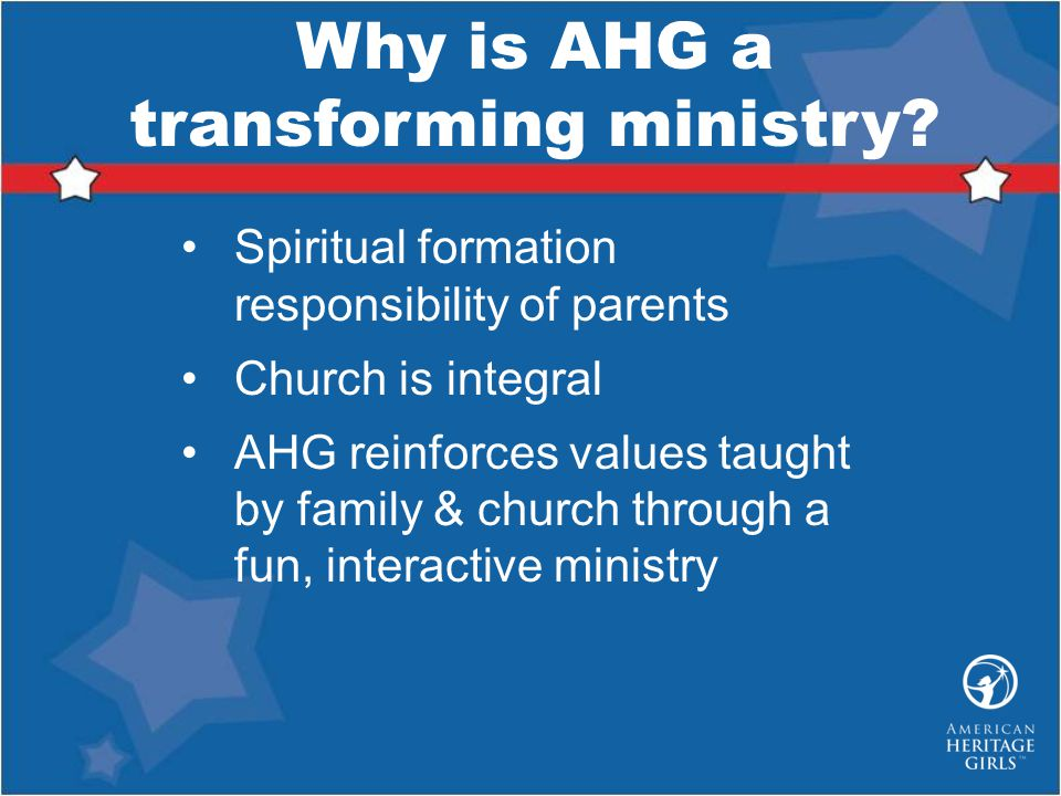 Why is AHG a transforming ministry