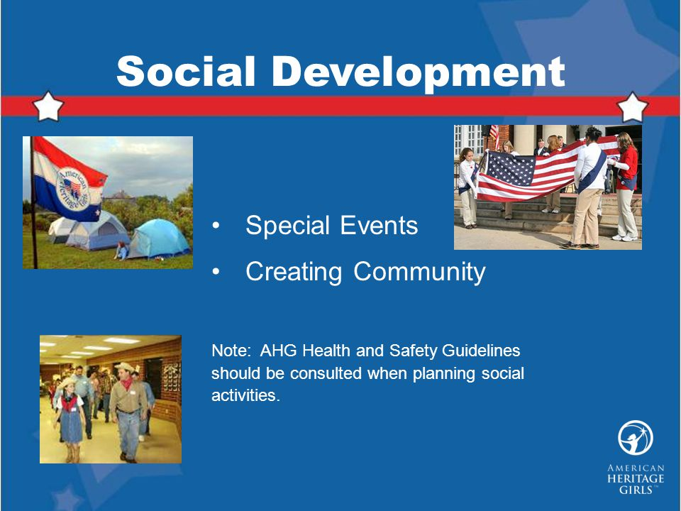 Social Development Special Events Creating Community