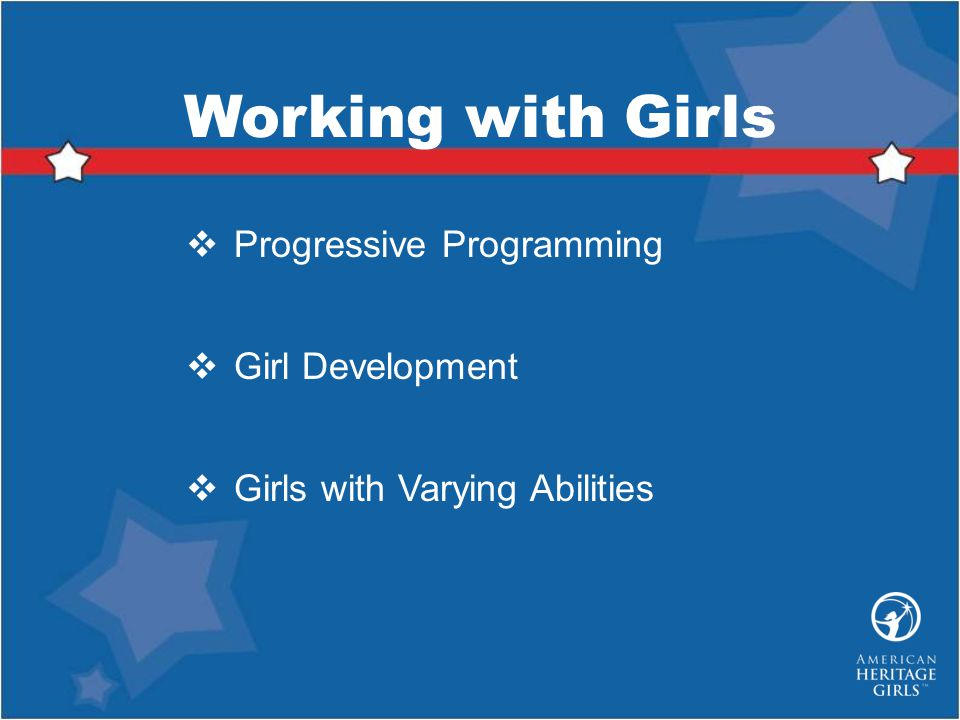 Progressive Programming Girl Development Girls with Varying Abilities