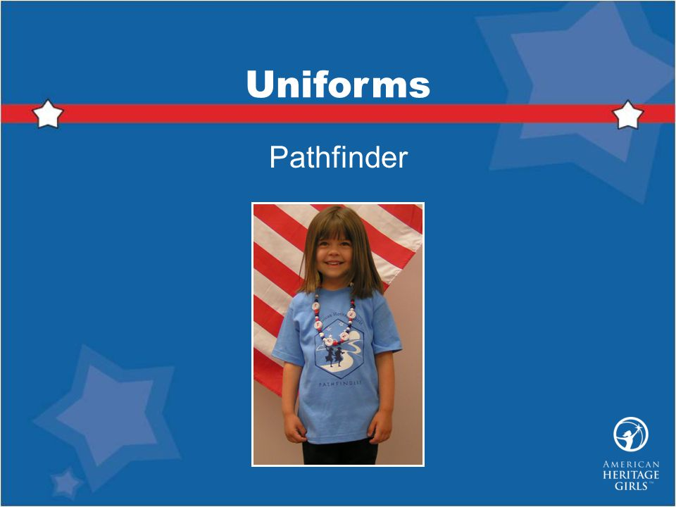 Uniforms Pathfinder.
