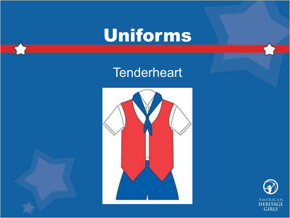 Uniforms Tenderheart Tenderheart Uniform consists of: