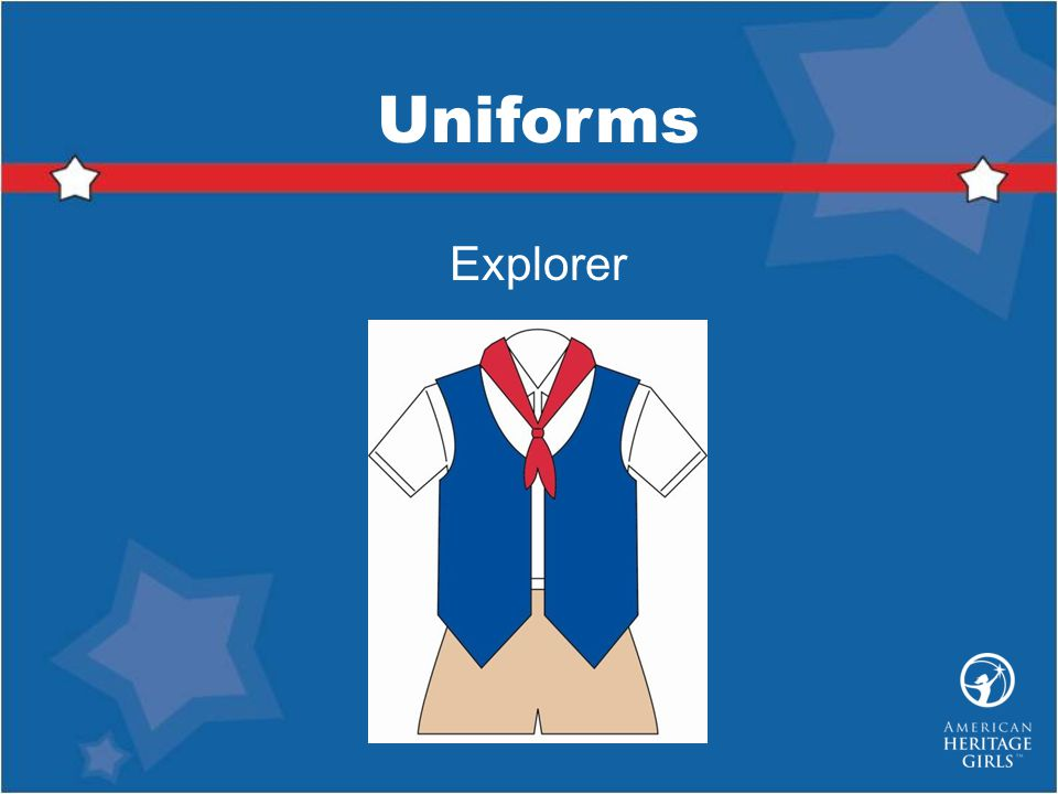 Uniforms Explorer Explorer Uniform consists of: