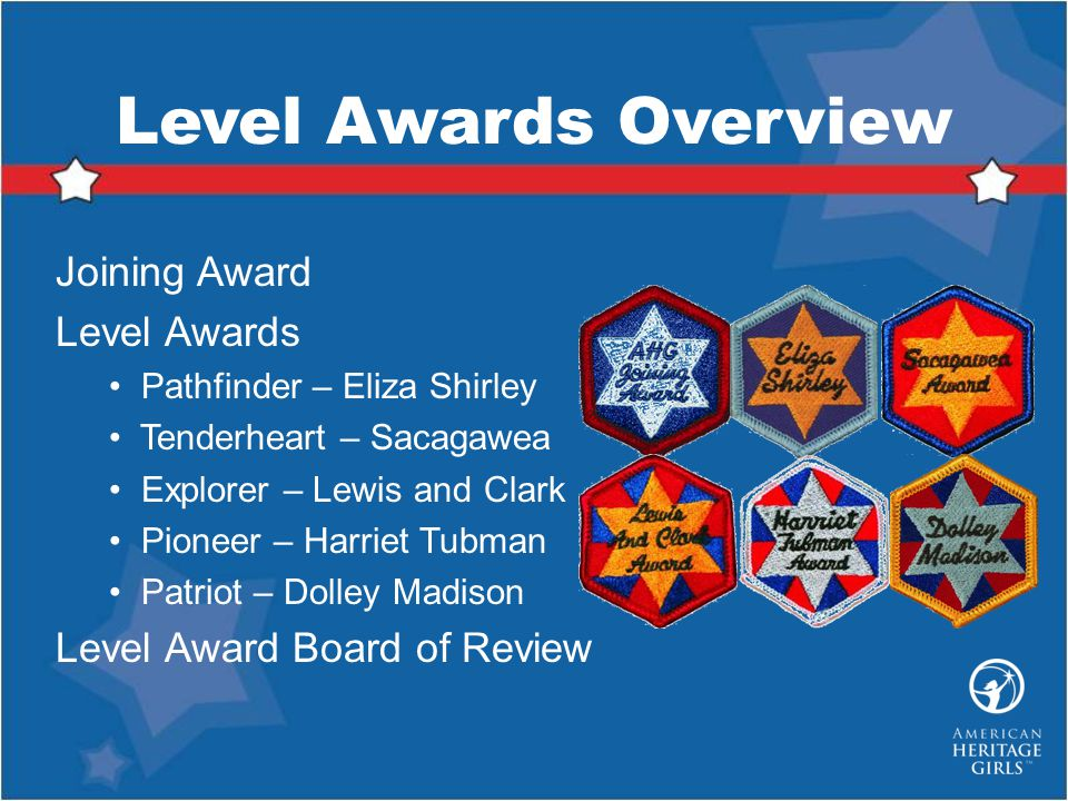 Level Awards Overview Joining Award Level Awards