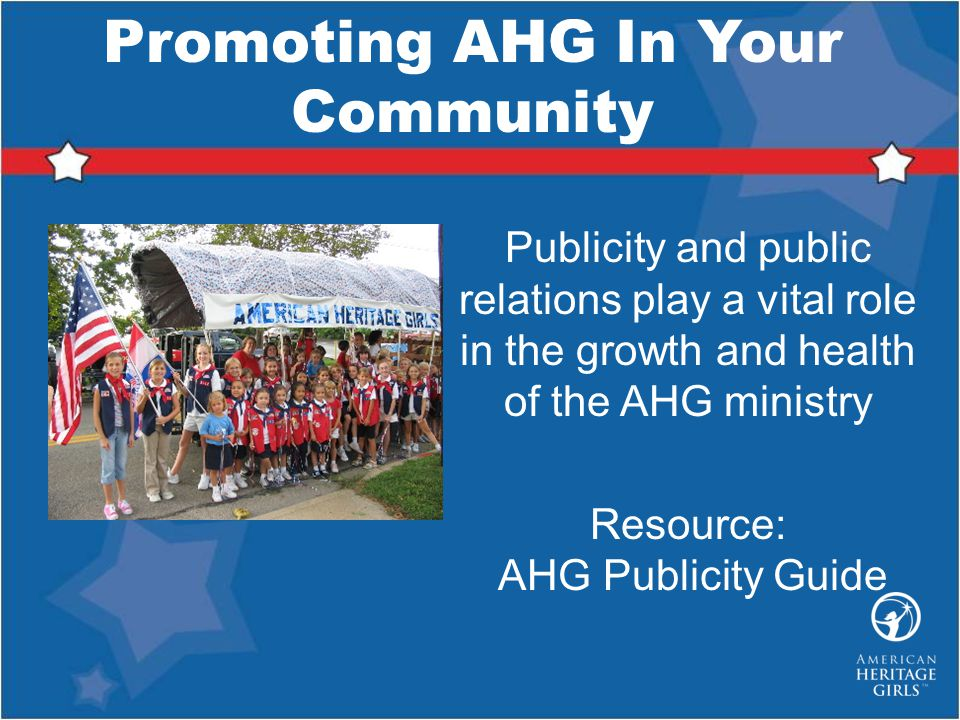 Promoting AHG In Your Community