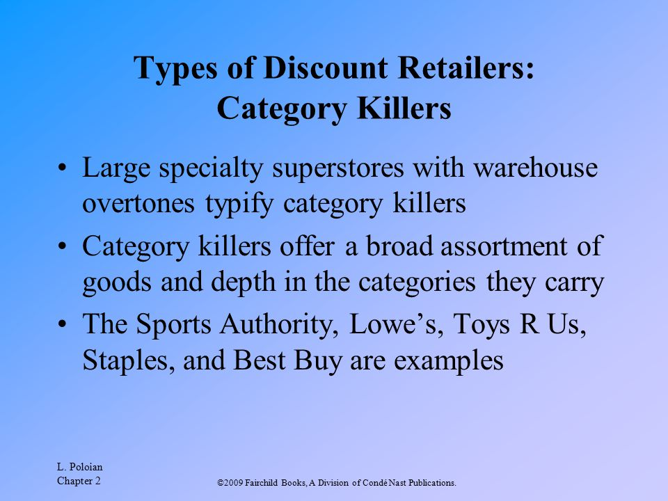 Types of Discount Retailers: Category Killers