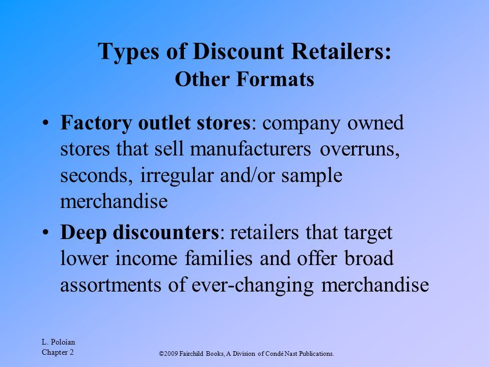 Types of Discount Retailers: Other Formats