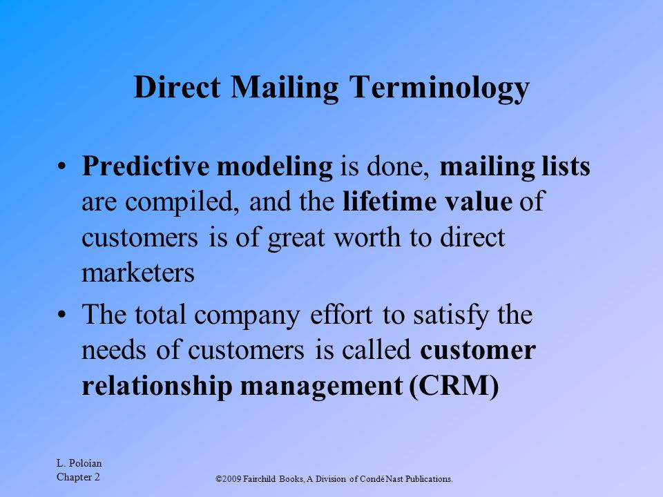 Direct Mailing Terminology