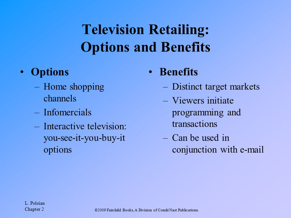 Television Retailing: Options and Benefits