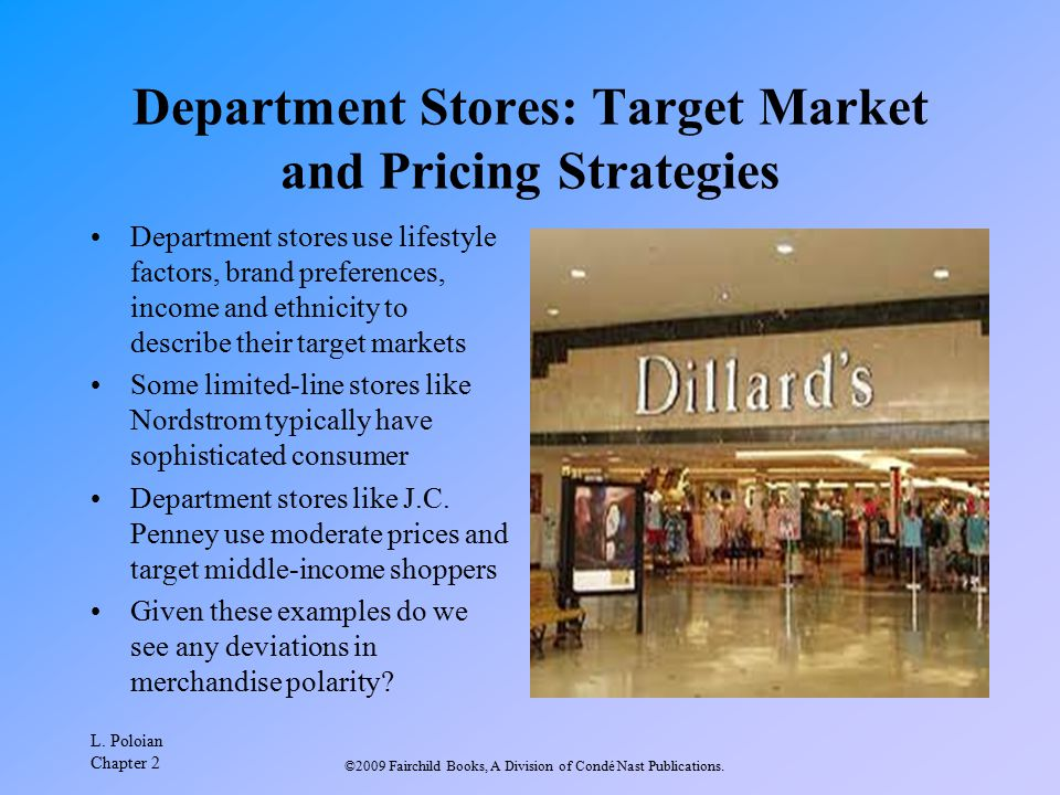 Department Stores: Target Market and Pricing Strategies