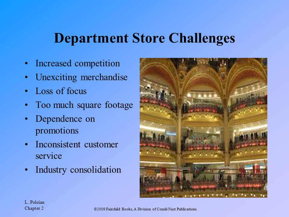 Department Store Challenges