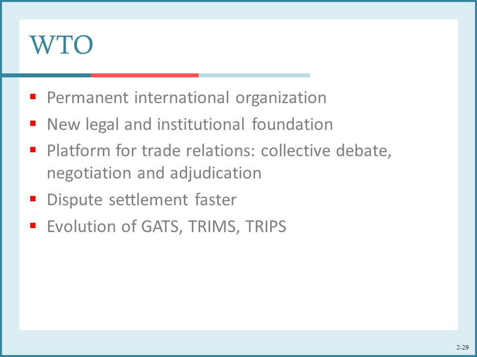 WTO Permanent international organization