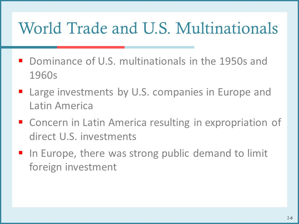 World Trade and U.S. Multinationals