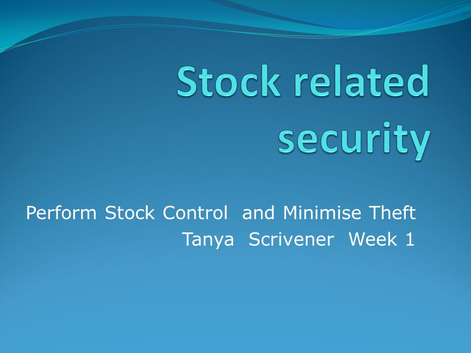 Stock related security