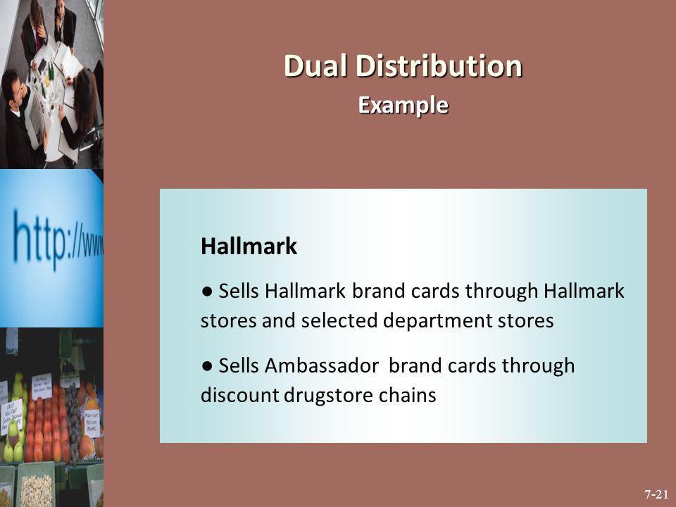 Dual Distribution Example Hallmark